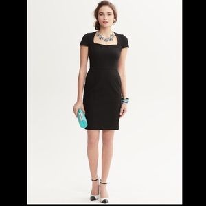 Brand New Black Banana Republic Sloan Sheath Dress